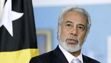 East Timor's chief negotiator, Xanana Gusmao.