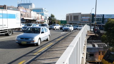 Beecroft Road, where it crosses the train lines at Epping Station, is going to be widened.