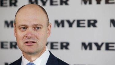 Under pressure: Myer chief executive Richard Umbers.