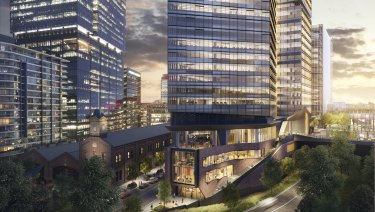 Two Melbourne Quarter is the second of three commercial buildings and four high-rise apartments planned for Lendlease's $2 billion Batman Hill precinct.