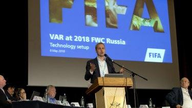 FIFA's technology innovation department chief Johannes Holzmueller.