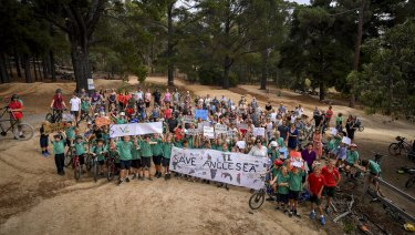 Anglesea residents are rallying against development plans for the former Alcoa site.