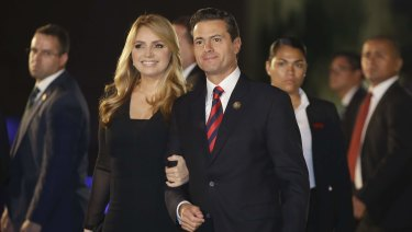 Mexican President Enrique Pena Nieto and his wife first lady Angelica Rivera on Friday.