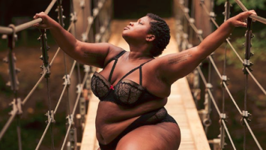 Yoga teacher and positive body image advocate Jessamyn Stanley.