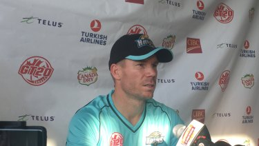David Warner will play in Darwin this weekend.