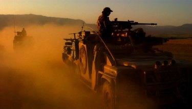 On patrol in Afghanistan.