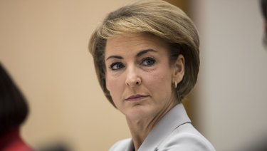 Employment Minister Michaelia Cash during a Senate estimates hearing earlier this week.