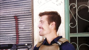 American journalist James Foley in Syria in July, 2012.