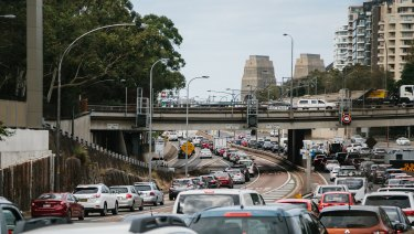 Sydney's roads are struggling to cope with traffic.
