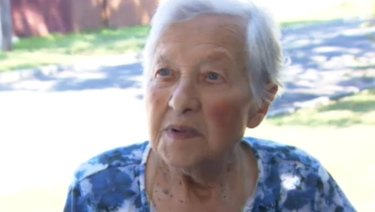 Sofia Barbopoulos, 96, was asleep in her bed when she heard the offender break into her Gertrude Street home in St Albans.
