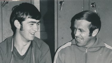 Bernie Quinlan with Ted Whitten in 1970.