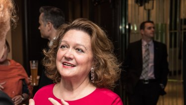 Gina Rinehart has the front-running in the contest for Atlas Iron.