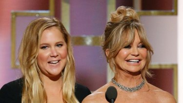 Goldie Hawn, right, alongside Snatched co-star Amy Schumer.
