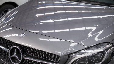 The luxury cars were damaged by a hail storm which lashed Melbourne in December.