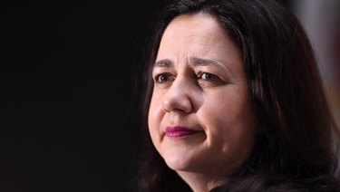 Premier Annastacia Palaszczuk announced she supported a ban on property developer donations in state and local governments.