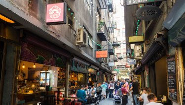 Degraves Street in Melbourne's CBD.