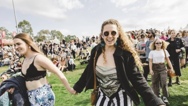 Thousands attended Groovin the Moo in Canberra on Sunday.