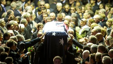 A state funeral was held at Festival Hall for world boxing champion Lionel Rose in 2011.