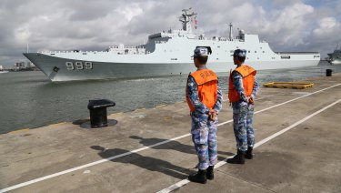 China dispatched members of its People's Liberation Army to Djibouti as a key part of a wide-ranging expansion of the role of China's armed forces.