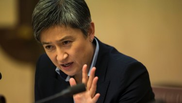 Senator Penny Wong during Senate estimates.