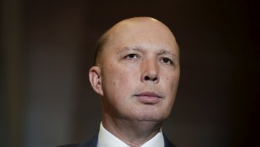 Home Affairs Minister Peter Dutton has been accused of pandering to right-wing groups.