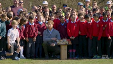 Prince Harry takes part in the Queen's Commonwealth Canopy project.