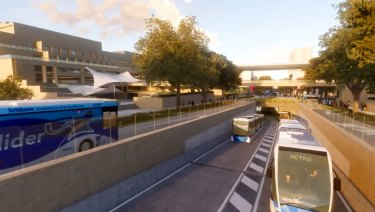 The state LNP would donate two parcels of land to council to progress the Brisbane Metro.