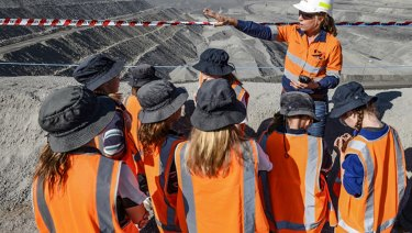 Students in NSW's upper Hunter region tour the Mount Thorley Warkworth mine.