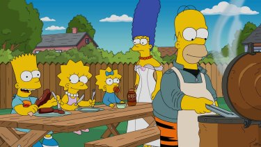 The Simpson family.