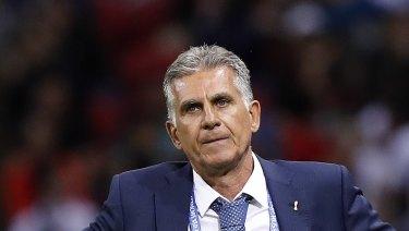 Iran head coach Carlos Queiroz.