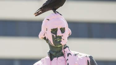 The Captain Cook statue in Saint Kilda was vandalised overnight.