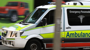The woman was struck by the vehicle just before 7.30am.