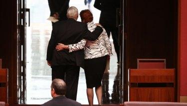 Brian Burston with Pauline Hanson in happier times.