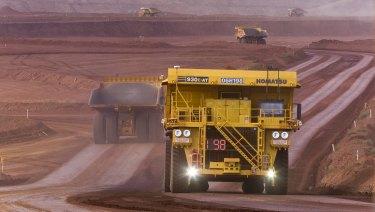 Autonomous Haulage Trucks at the West Angelas minesite.