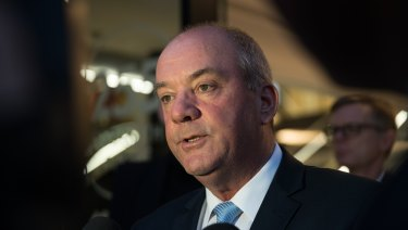 Daryl Maguire leaves the ICAC hearing on Friday night.