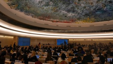 United Nations Human Rights Council meeting room, Geneva