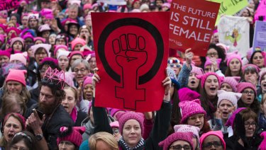 The Women's March in Washington, January 21, 2017.