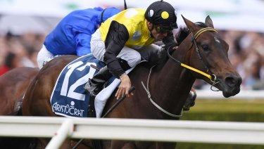 Everest bound: In Her Time and Corey Brown win the Sydney Stakes on Everest day last year