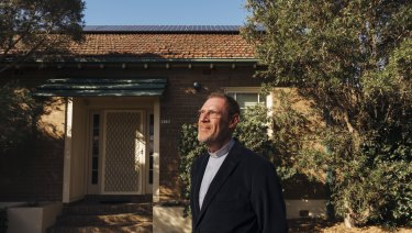 Father Peter Smith of St Columba's Catholic Parish in Sydney's Leichhardt is leading the way on solar, as the renewable energy surge gathers momentum nationally.