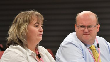 Former franchisees Emma Forsyth and Robert Whittet give evidence before the franchising inquiry.