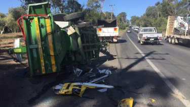 A truck collision at Glenhaven on April 16.