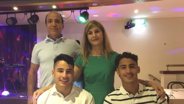 Family business: Daniel Arzani with his brother and parents.
