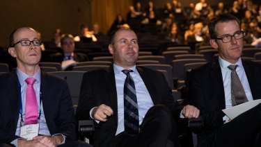 Josh Frydenberg at the Energy Networks event, where he said there needs to be incentives for smarter charging of EVs.