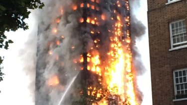 Grenfell Tower tragedy in London.