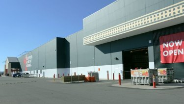 Bunnings Warehouse at Canberra Airport has opened its doors to the public.