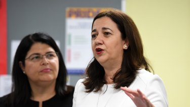 Queensland Premier Annastacia Palaszczuk and Education Minister Grace Grace announced an education policy on Tuesday.