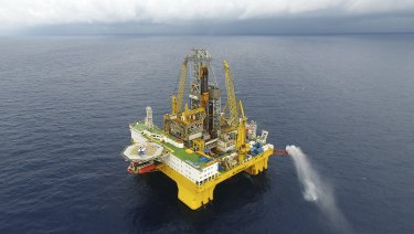 A Chinese gas drilling platform in the South China Sea.