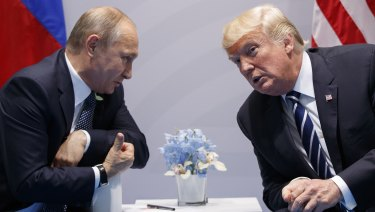 Donald Trump meets with Russian President Vladimir Putin at the G-20 Summit in Germany last year.