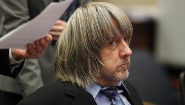David Turpin appears in court in Riverside, California.