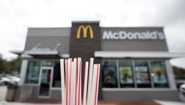 McDonald's will also test a plastic straw 'alternative' in US stores.